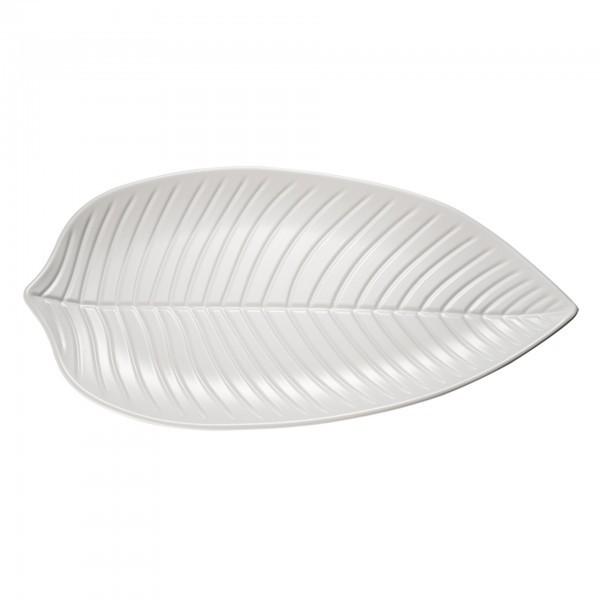 Blattschale - Melamin - weiß - Serie Natural Collection - APS 83435