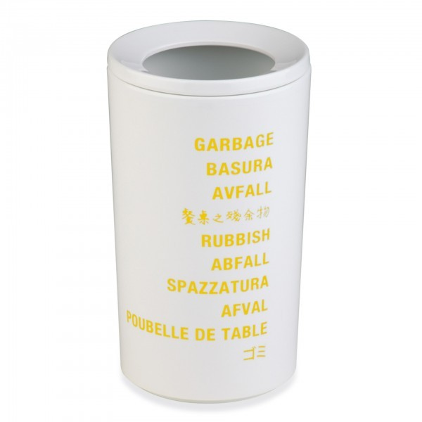 Tischrestebehälter - Melamin - weiß - rund - APS 83847