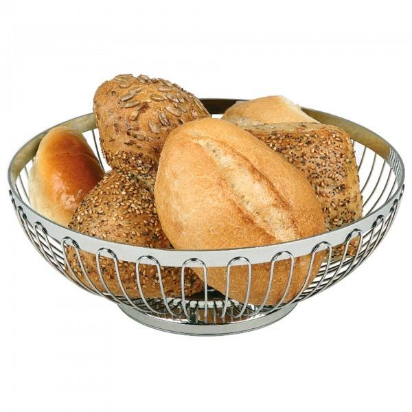 Brot- und Obstkorb - Edelstahl - rund - APS 30200