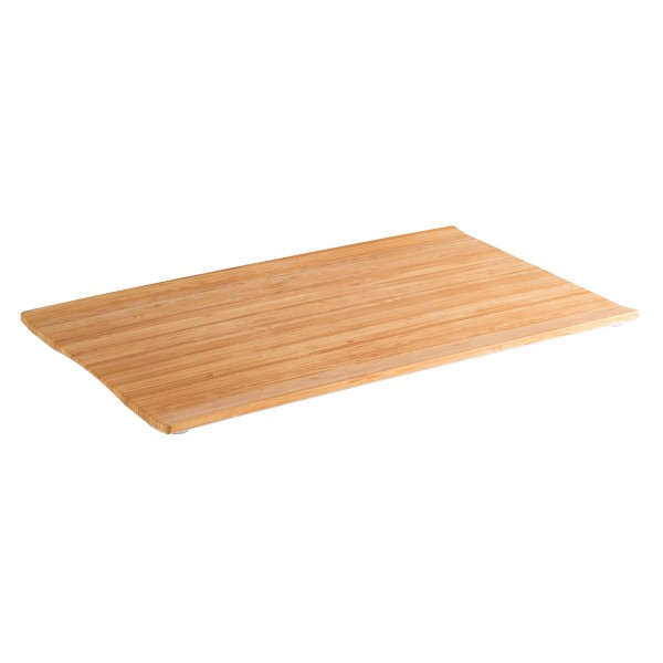 GN-Tablett - Melamin - bambus / weiß - rechteckig - Serie Bamboo - 84800