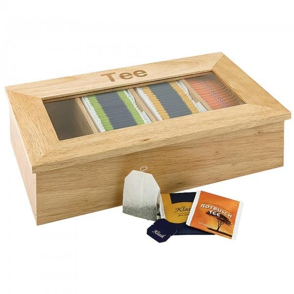 Teebox - Holz - natur - rechteckig - APS 11575