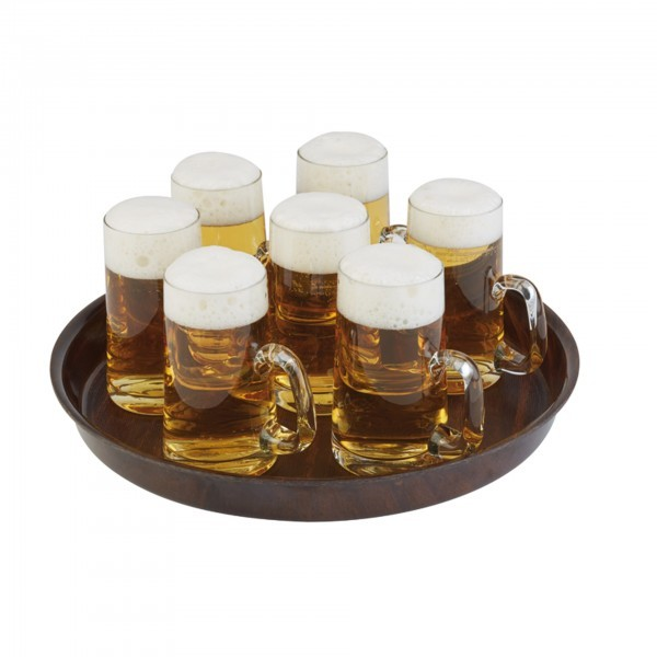 Bierglasträger - Pressholzlaminat - mahagonifurnier - APS 00528