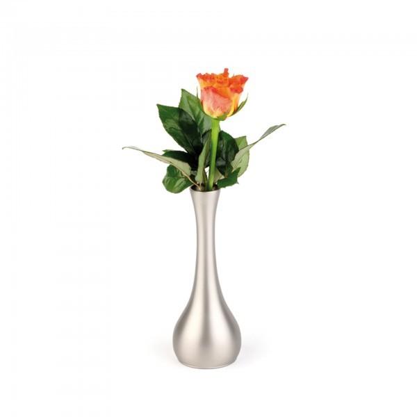 Vase - Zinkdruckguss - lackiert - bauchig - APS 04017