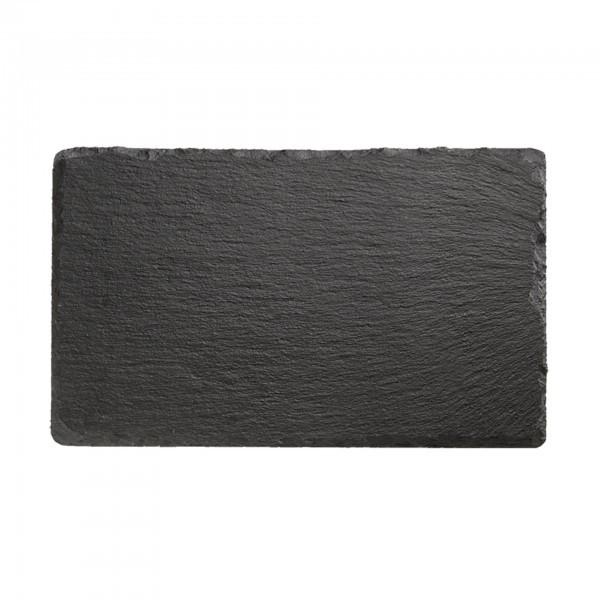 Naturschieferplatte - Naturschiefer - schwarz - rechteckig - APS 00941