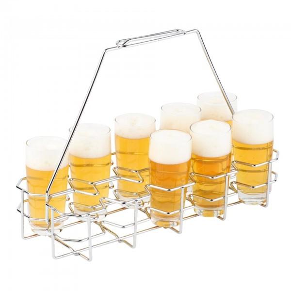 Bierglasträger - Metall - verchromt - APS 00632