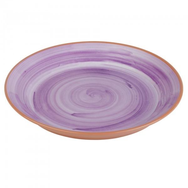 Teller - Melamin - violett - rund - Serie La Vida - APS 84165
