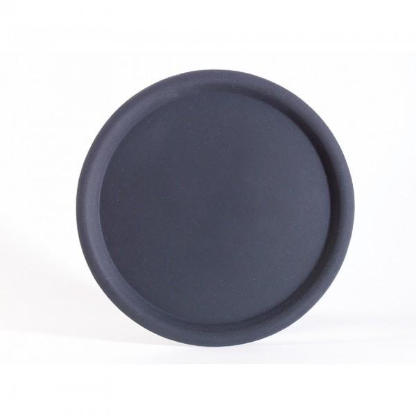 Serviertablett - glasfaserverstärkter Kunststoff - schwarz - rund - Serie Happy Hour - APS 00510