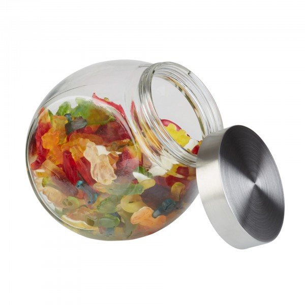 Vorratsglas - Glas - transparent - rund - 00637