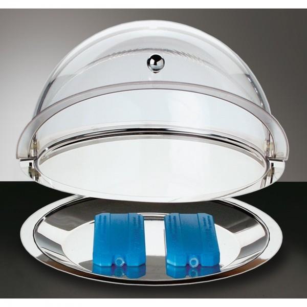 Thermo-Set - Edelstahl - silber / transparent - rund - APS 09082