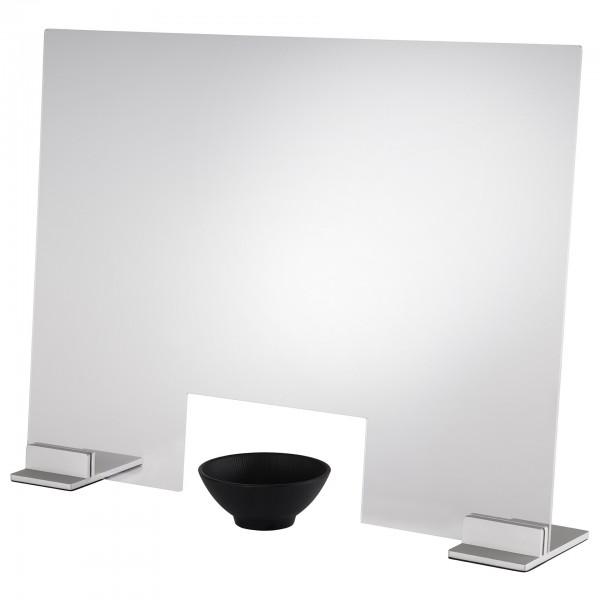 Hygieneschutzwand - Acryl - transparent - rechteckig - 98040