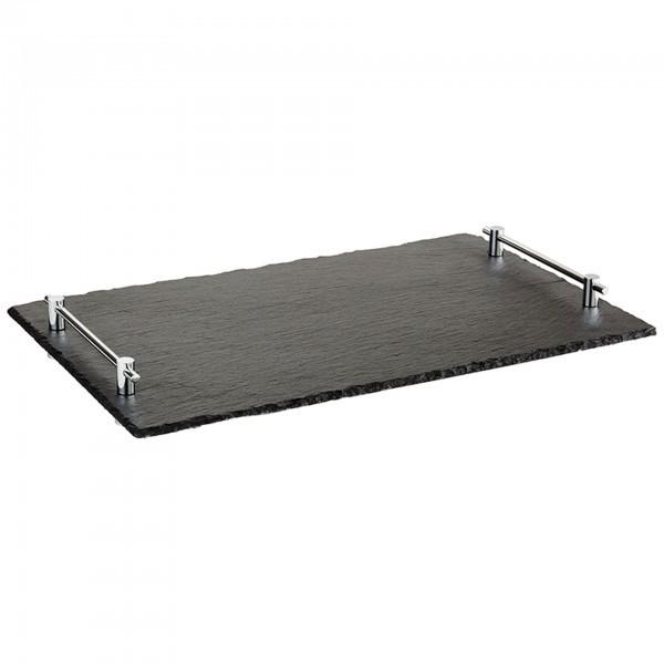 GN-Naturschieferplatte - Naturschiefer - schwarz - rechteckig - Serie Hochstapler - APS 00966
