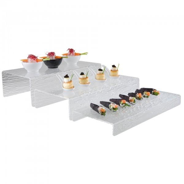 Stufen-Display - Acrylglas - rechteckig - APS 03614