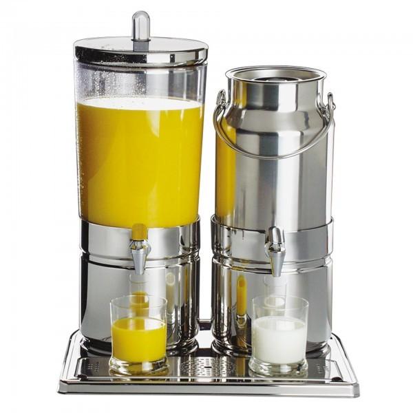 Saft- und Milchdispenser - Edelstahl / SAN - hochglanzpoliert - Serie Mix - APS 10760