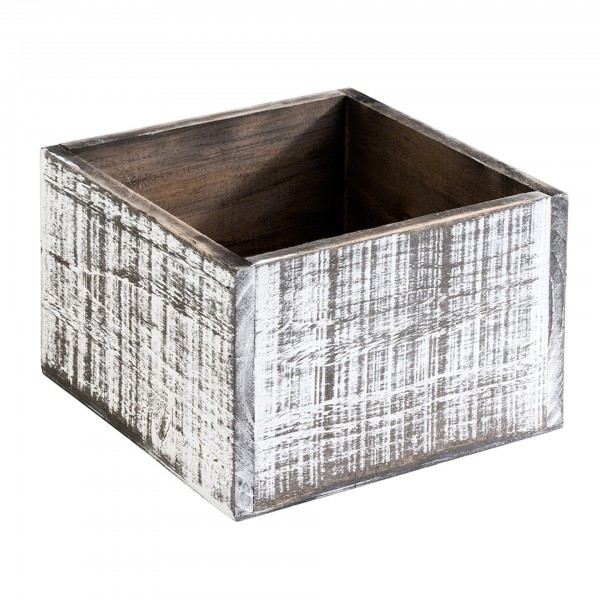 Table Caddy - Holz - weiß / vintage - eckig - Serie Vintage - 11612