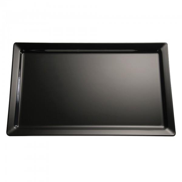 GN-Tablett - Melamin - schwarz - rechteckig - Serie Pure - APS 83479