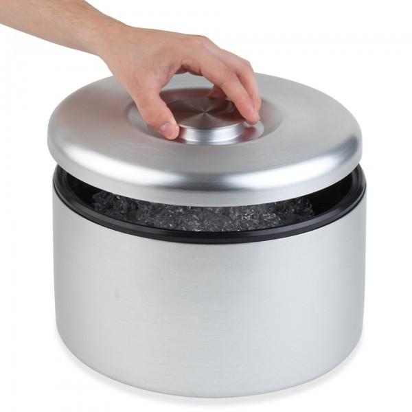 Eisbox - Aluminium - silber - rund - APS 36033