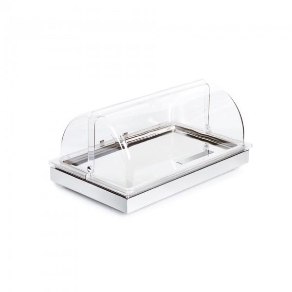 Cool Plates - Edelstahl - weiß - rechteckig - Serie Frames - APS 12941