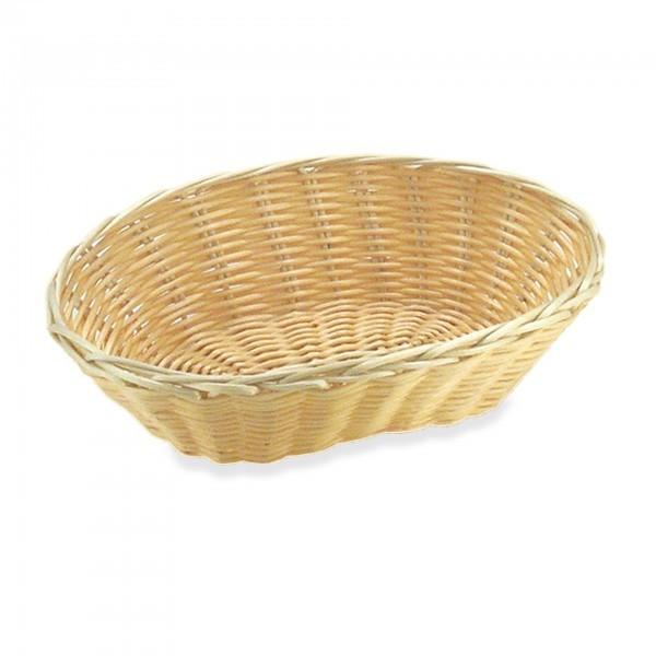 Brot- und Obstkorb - Polypropylen - hellbeige - oval - Serie Basic - APS 30279