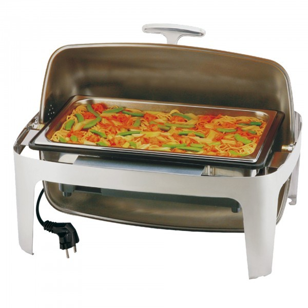 Elektro-Rolltop-Chafing Dish - Edelstahl / Polypropylen - rechteckig - Serie Elite - APS 12360