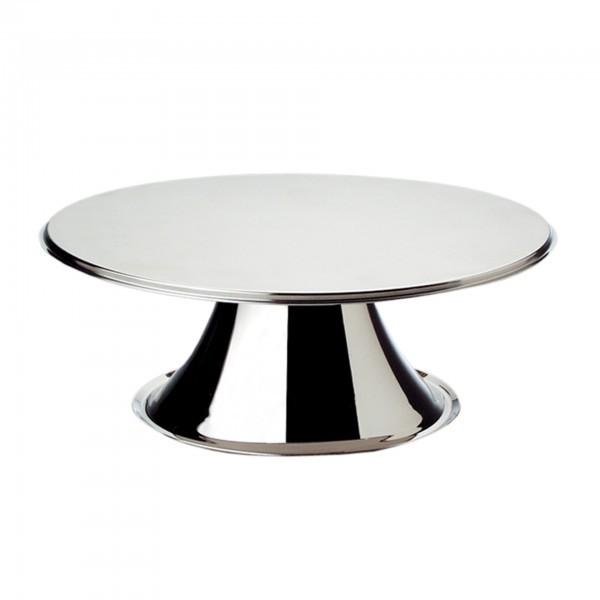 Tortenplatte - Edelstahl - matt poliert - APS 00462
