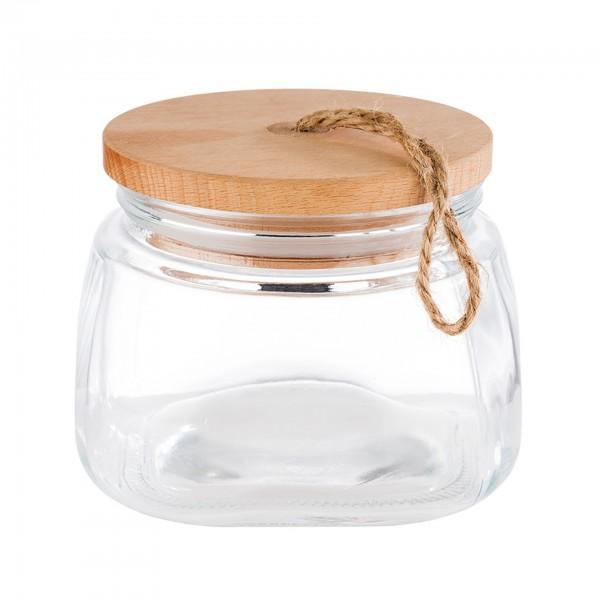 Vorratsglas - Glas - transparent - rund - Serie Woody - 82255