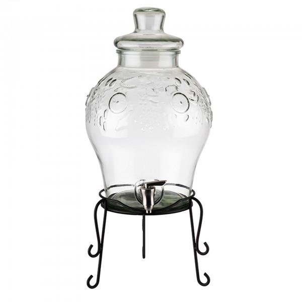 Getränkedispenser - Metall / Glas - transparent - Serie Fruits - 10415