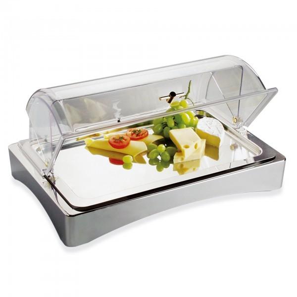 GN-Kühlbox - Edelstahl - silber / transparent - rechteckig - Serie Top Fresh - APS 11590