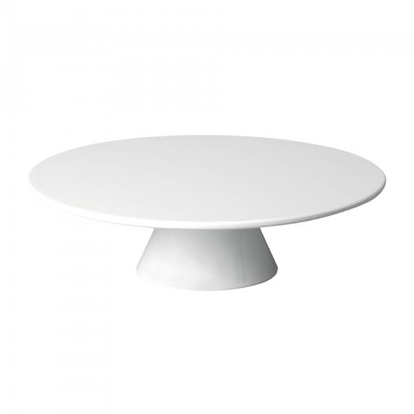 Servier- und Tortenplatte - Melamin - weiß - rund - Serie Casual - APS 83890