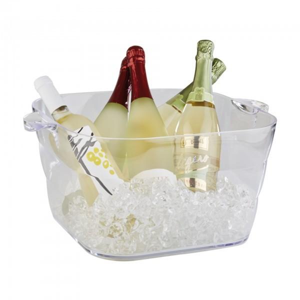 Flaschenkühler / Getränkeschale - MS - klar - rechteckig - APS 36082