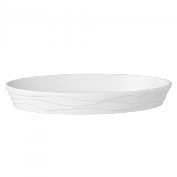 Schale - Melamin - weiß - oval - Serie Klassik Wave - APS 83875