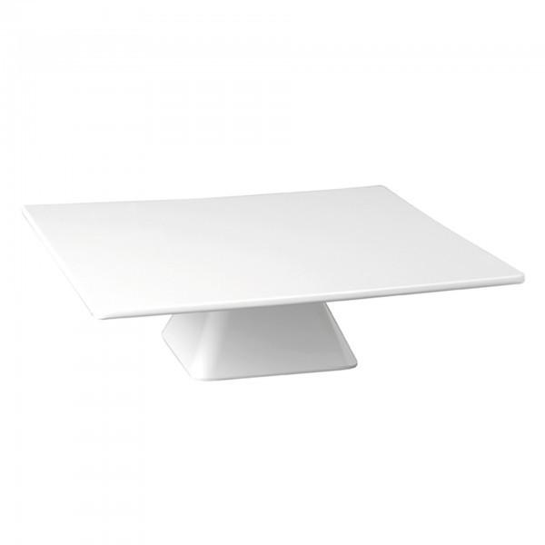 Servier- und Tortenplatte - Melamin - weiß - quadratisch - Serie Casual - APS 83892