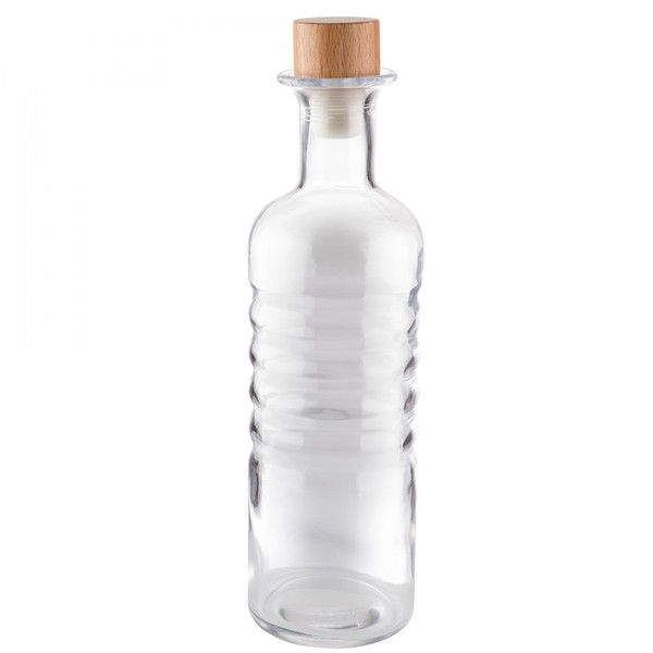 Karaffe - Glas - transparent - rund - Serie Rings - 10743