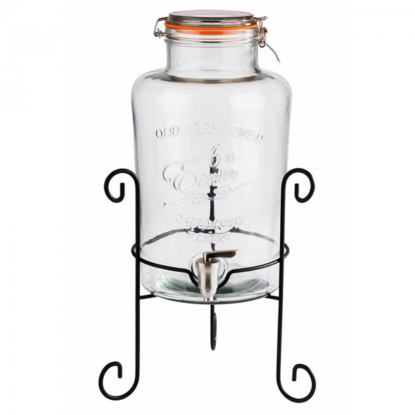 Getränkedispenser - Metall / Glas - transparent - Serie Old Fashioned - 10409