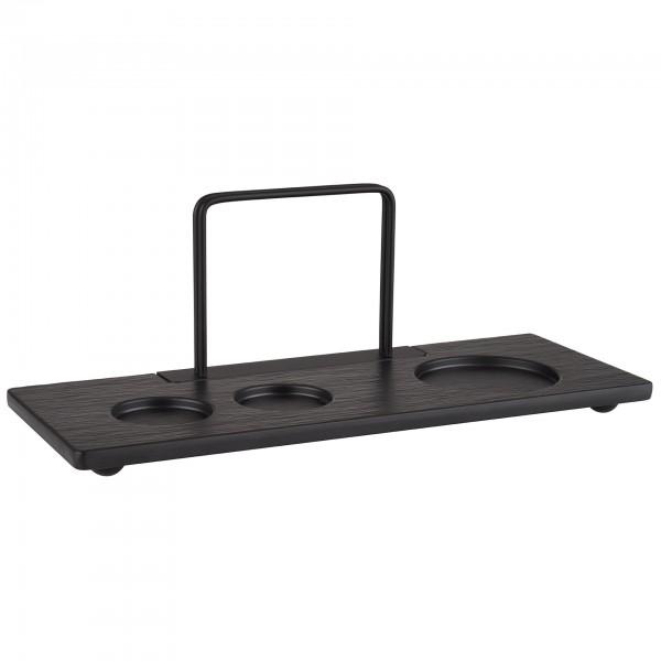 Tischstation - Melamin - schwarz - rechteckig - 40475