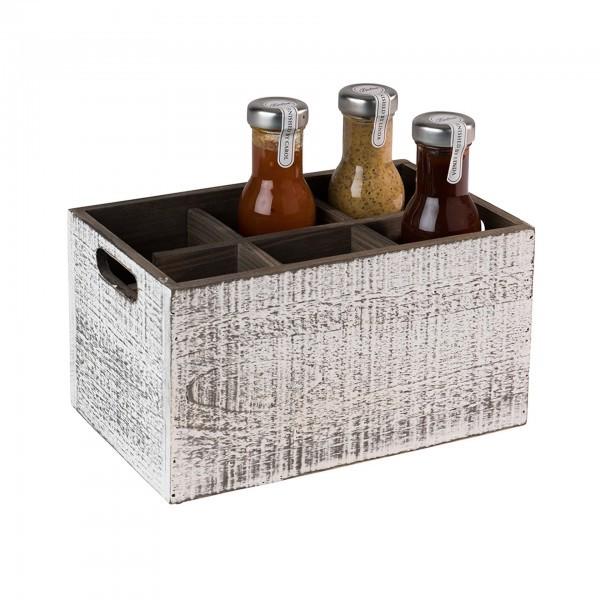 Table Caddy - Holz - weiß - rechteckig - Serie Vintage - APS 11603