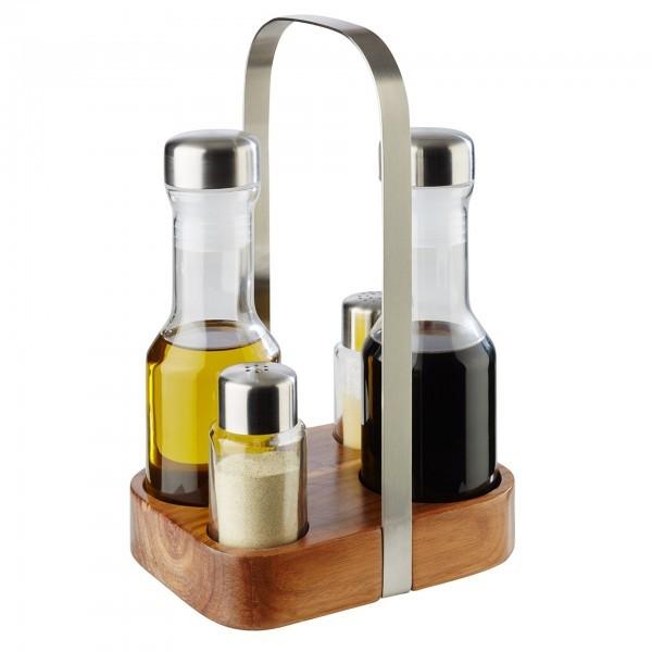 Salzstreuer / Pfefferstreuer - Glas - matt poliert - APS 40438