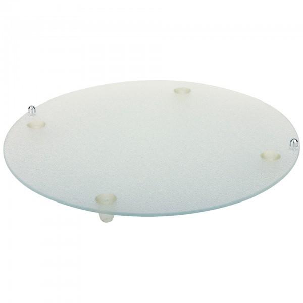 Buffet-Glasplatte - Glas - rund - APS 00972