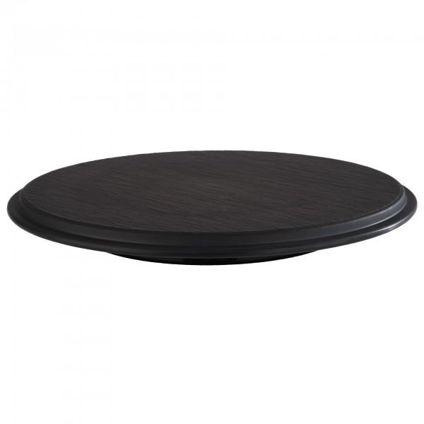 Tortenplatte - Melamin - schwarz - rund - Serie Slate - 85046