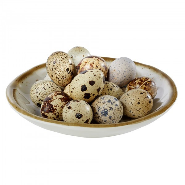 Schale - Melamin - weiß, braun - rund - Serie Stone Art - APS 84509
