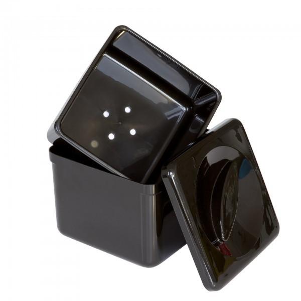 Eisbox - Polystyrol - schwarz - quadratisch - APS 93200