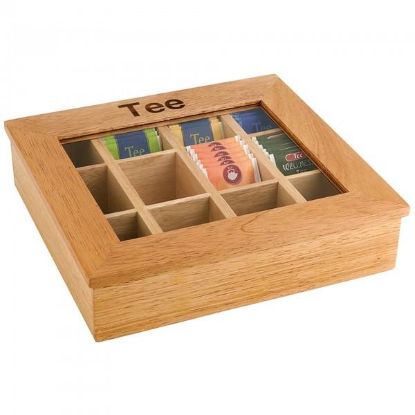 Teebox - Holz - hell - rechteckig - APS 11775
