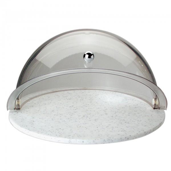 Rolltop-Set - Kunststoff - glasklar - rund - APS 09081