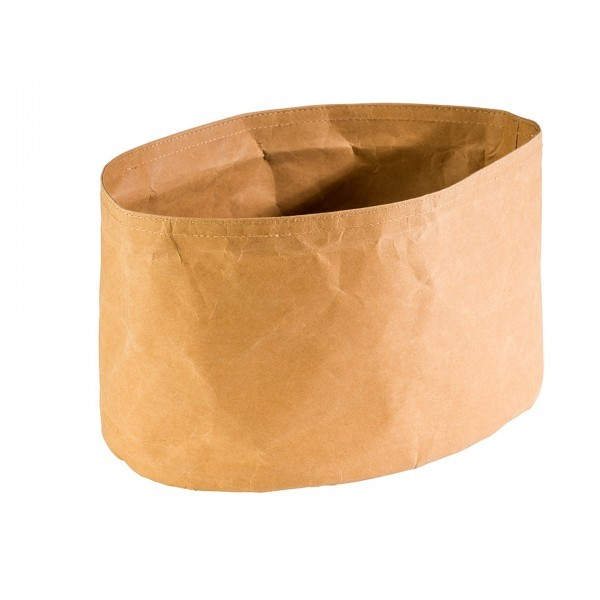 Brottasche - Papier, Lederoptik - beige - oval - Serie Paperbag - APS 30444