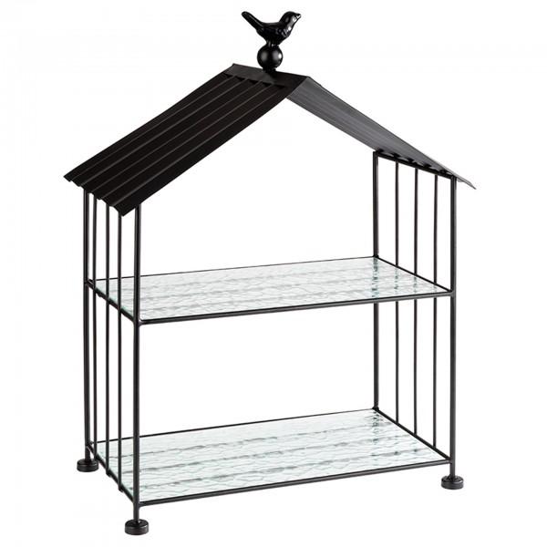 Buffetgestell - Metall - schwarz - Serie Bird - 11661