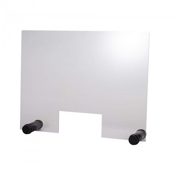 Hygieneschutzwand - Acryl - transparent - rechteckig - mit Öffnung - 98004