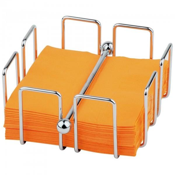 Serviettenhalter - Metall, verchromt - quadratisch - Serie Bar - APS 11762