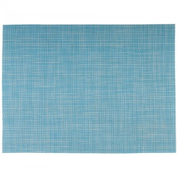 Tischset - PVC - hellblau, weiß - rechteckig - APS 60041