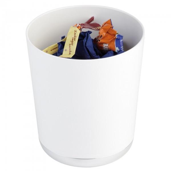 Tischreste- / Besteckbehälter - SAN - weiß - rund - Serie Base Chrome - APS 00019
