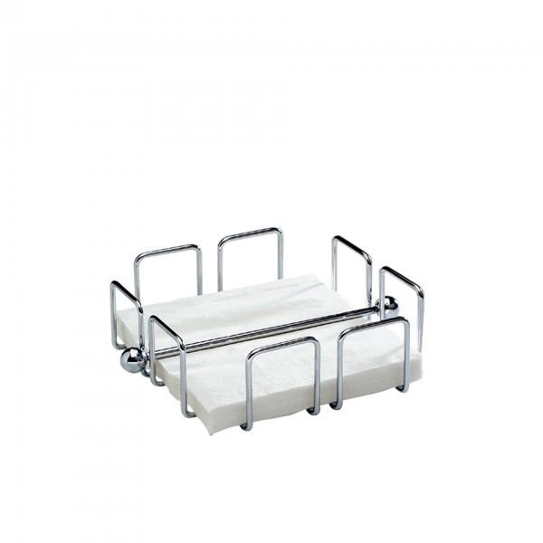 Serviettenhalter - Metall, verchromt - quadratisch - Serie Wire - APS 11763