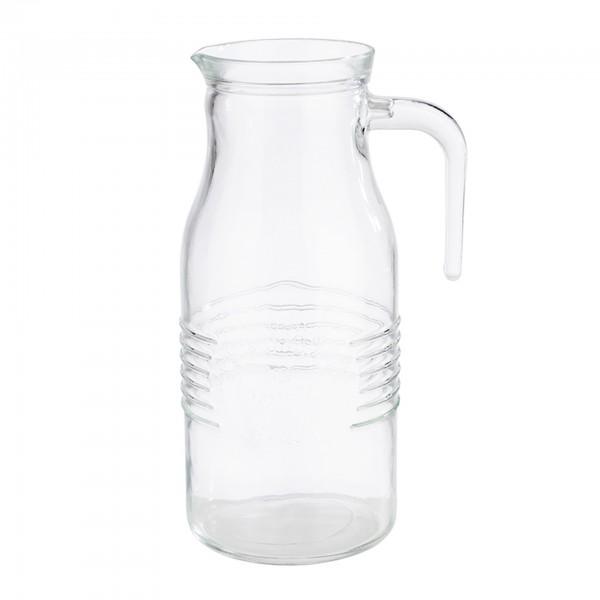 Karaffe - Glas - transparent - rund - 10745